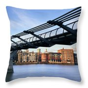 Millennium Bridge London 1 Throw Pillow