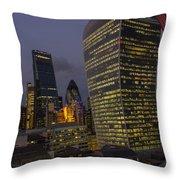 London Skyline Through A Fence Throw Pillow
