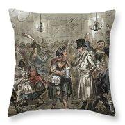 London: Slum, 1821 Throw Pillow