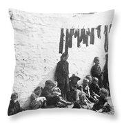 London Slum, C1890 Throw Pillow