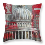 London St Paul's Dome Throw Pillow