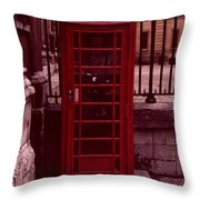 London Telephone Throw Pillow