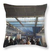 London Train Station Throw Pillow