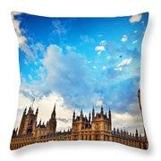 London Uk Big Ben The Palace Of Westminster Throw Pillow
