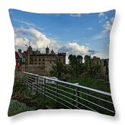 London Underground And The Tower Of London Throw Pillow