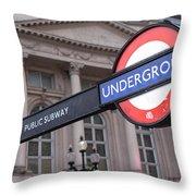 London Underground 1 Throw Pillow