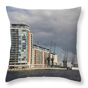 London Victoria Dock Throw Pillow