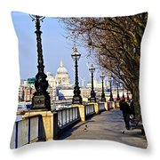 London View From South Bank Throw Pillow by Elena Elisseeva