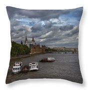 London's Thames River Throw Pillow