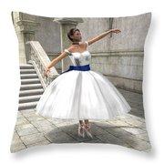 Lone Ballet Dancer Throw Pillow