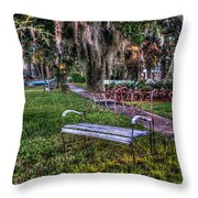 Lone Bench Throw Pillow