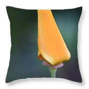 Lone Bud Throw Pillow