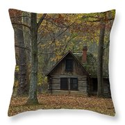 Lone Cabin Throw Pillow