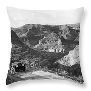 Lone Car In Fish Creek Canyon Throw Pillow