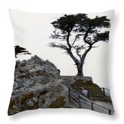 Lone Cypress 1970 Throw Pillow