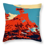 Lone Cypress Poster Throw Pillow