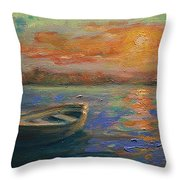 Lone Dinghy Throw Pillow