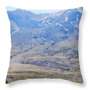 Lone Evergreen - Mount St. Helens 2012 Throw Pillow