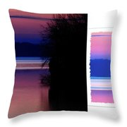 Lone Fisherman  Watersoft Smooth Throw Pillow