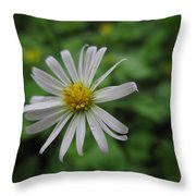 Lone Flower Throw Pillow