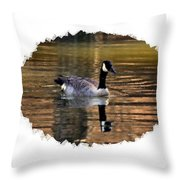 Lone Goose Throw Pillow
