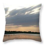 Lone Kayaker Throw Pillow