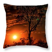 Lone Manzanita Sunset Throw Pillow
