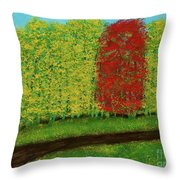 Lone Maple Among The Ashes Throw Pillow