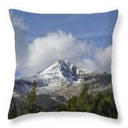 Lone Mountain Peak Throw Pillow