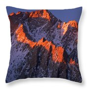 Lone Pine Peak - February Throw Pillow