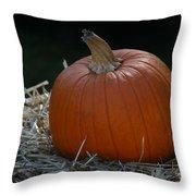 Lone Pumpkin Throw Pillow