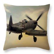 Lone Spitfire Throw Pillow