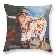 Lone Star Longhorn Throw Pillow