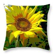 Lone Sunflower Throw Pillow