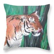Lone Tiger Throw Pillow