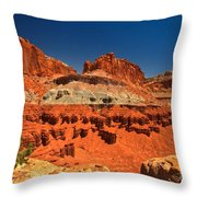 Lone Tree Atop The Waterpocket Throw Pillow