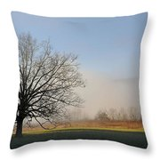 Lone Tree In Cades Cove Throw Pillow