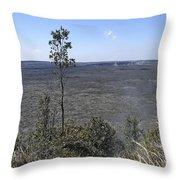 Lone Tree Kilauea Crater Throw Pillow