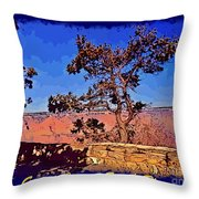 Lone Tree South Rim Poster Throw Pillow
