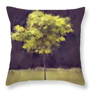 Lone Tree Willamette Valley Oregon Throw Pillow by Carol Leigh