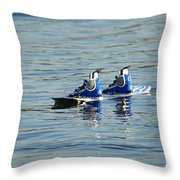 Lone Wakeboard Throw Pillow