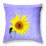 Lone Yellow Daisy Throw Pillow