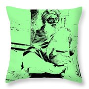 Loneliness And The Old Age Throw Pillow