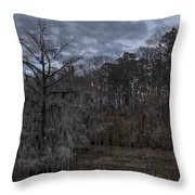 Lonely Bald Cypress Throw Pillow