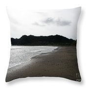 Lonely Beach In Costa Rica Throw Pillow