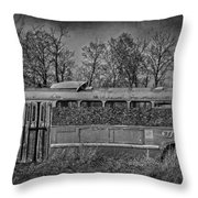 Lonely Bus  Throw Pillow