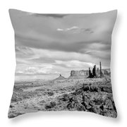 Lonely Cloud And Totem Pole - Monument Valley Tribal Park Arizona Throw Pillow