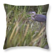 Lonely Heron Throw Pillow