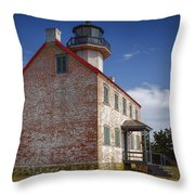 Lonely East Point Lighthouse Throw Pillow