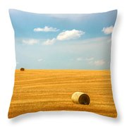 Lonely Fields Throw Pillow